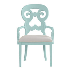 Stanley Furniture - Coastal Living Cottage Wayfarer Arm Chair - Sea Mist Finish - Named for the travelers who made their way from town to town in search of respite, this cozy arm chair wraps around you like a welcoming summer breeze. Made to order in America.
