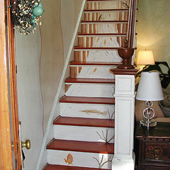 eclectic staircase by Casart Coverings