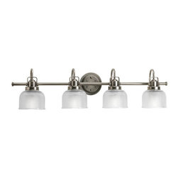 Progress Lighting - Progress Lighting P2997-81 Archie Four Light Bathroom Vanity Light - Progress Lighting P2997 Archie Bathroom Light