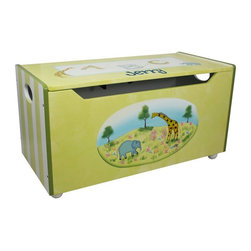 Fantasy Fields - Fantasy Fields Alphabet Personalized Childrens Toy Chest Multicolor - W-3834AP - Shop for Childrens Toy Boxes and Storage from Hayneedle.com! You can fit everything the littlest big game hunter might need inside the Fantasy Fields Alphabet Personalized Childrens Toy Chest. A charming hand-painted finish adorns the exterior with elephants and giraffes and you even have the option to personalize the lid with your child's name. The wide bench top is the perfect place for pulling on their safari gear and you've got plenty of storage when the lid flips up. Cut-outs along the front and safety hinges also make sure they don't pinch their fingers when the lid closes.About Teamson DesignBased in Edgewood N.Y. Teamson Design Corporation is a wholesale gift and furniture company that specializes in handmade and hand-painted kid-themed furniture collections and occasional home accents. In business since 1997 Teamson continues to inspire homes with creative and colorful furniture.