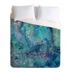 DENY Designs - DENY Designs Rosie Brown Diver Paradise Duvet Cover - Lightweight - Turn your basic, boring down comforter into the super stylish focal point of your bedroom. Our Lightweight Duvet is made from an ultra soft, lightweight woven polyester, ivory-colored top with a 100% polyester, ivory-colored bottom. They include a hidden zipper with interior corner ties to secure your comforter. It is comfy, fade-resistant, machine washable and custom printed for each and every customer. If you're looking for a heavier duvet option, be sure to check out our Luxe Duvets!