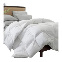 Ogallala Comfort Company - Ogallala Comfort Company Pearl Crescent 700 Hypo-Blend Southern Down Comforter - Our Hypodown blend is four parts white goose down and one part Syriaca clusters, a fiber from the milkweed plant. The two work hand in hand to give you the best of their natural abilities: warmth and comfort. Down clusters are the soft fluff under feathers that keep birds comfortable no matter what the climate. In order to measure nature's performance, down is rated by two distinct values, Percent Down Cluster and Fill Power. Syriaca clusters trap and suppress allergens.