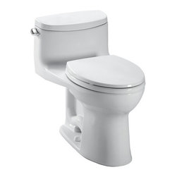 Toto - Toto | Supreme II One-Piece Toilet - Made by TOTO USA.The timeless look of the Supreme II One-Piece Toilet blends into existing bathroom motifs with ease. Made from Vitreous china that is resistant to scratches, mold, and bacteria that result after daily use. The seamless design make this TOTO toilet more hygienic and easier to clean. Includes a chrome trip lever and elongated soft close seat. Features: