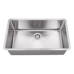 Hahn - Hahn Chef Series Handmade Single Bowl, Extra Large - Traditional style meets modern appeal with the Handmade Chef Series from Hahn. Boasting tight clean corners and a sleek sophisticated feel, the Hahn Handmade Extra Large Single Bowl will give your kitchen a unique modern touch. With a deep bowl for functionality and ample work space, this versatile farmhouse sink is an essential addition to any designer kitchen.