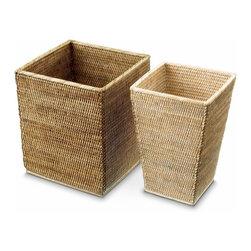 Modo Bath - Harmony 102 Waste Basket in Rattan Dark or Light - Harmony 102 Waste Basket in Rattan Dark or Light
