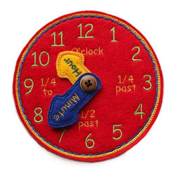 Time Teaching Clock, Red by Ann's Craft House - This super-cute time-teaching clock is a fun way for children to learn how to tell time. It's a great educational toy for toddlers and preschoolers that makes learning fun!