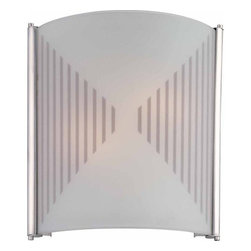"Volume Lighting - Volume Lighting V6014 12"" Height 2 Light Wall Washer Sconce - 12"" Height Two Light Wall Washer SconceAdd a touch of class to your home decor with this 2 light wall sconce featuring elegant hand sandblasted glass in a charming silkscreen pattern.Features:"