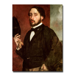 Trademark Fine Art - Edgar Degas 'Self Portrait 1862' Canvas Art - Artist: Edgar Degas Title: Self Portrait 1862 Product type: Giclee, gallery wrapped