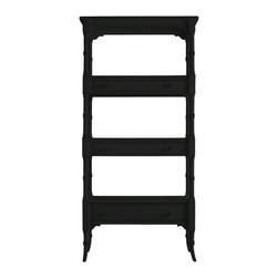 Stanley Furniture - Coastal Living Cottage-Etagere - This is the piece that makes the room. From its unusual box on box shelf construction to its triple-ring post motif, this etagere brings back the kind of childhood memories that make you wonder what's hidden on that top shelf.