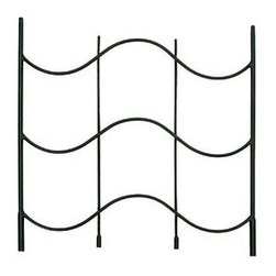 """Achla - Black Metal Wave Wall Trellis - This wall trellis extension is a great way to add more room for growth without changing the entire design.  The serene wave design is a soothing addition to the outside and will coordinate nicely with existing décor.  Add more peace to the outdoors with this beautifully crafted wave wall trellis.  The Wave Time Trellis Extension adds an additional 24"""" of height to your Wave Time Garden Trellis.  Powdercoated in midnight black to match the trellis, the Wave Time Trellis Extension provides extra footing for your climbing vines on tall walls. * The Wave Time Trellis Extension adds an additional 24"""" of height to your Wave Time Garden Trellis. Powdercoated in midnight black to match the trellis, the Wave Time Trellis Extension provides extra footing for your climbing vines on tall walls. Iron. Black Powdercoat finish. 23 1/2 in. W x 24 H in."""