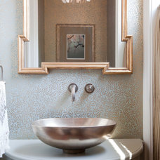 Eclectic Powder Room by Amanda Austin Interiors