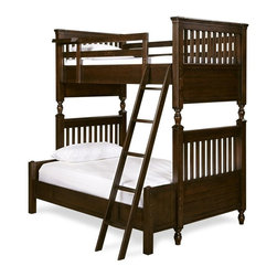 Universal Smartstuff - Universal Smartstuff Guys Twin Over Full Bunk Bed - With the success of Universal Furnitures introduction of its youth furniture line, Smartstuff, comes - Gals & Guys: Universal Furnitures newest furniture collection. Whats so exciting is that this combines the attributes of comfort and elegance of Paula Deen Collection and the superior construction with innovative function of Smartstuff all certified safety at an affordable price .Set out to design and build perfect youth furniture is the mindset of Universal Furniture in making Gals & Guys Collection. With Smartstuff, there is no better way to enhanced it than to add in the design of comfort and elegance from the pillar of comfort itself - the Paula Deen Furniture Collection.A bunk bed for your ultimate storage, functionality, with a touch of fun for the youth of your life. Perfect for siblings or a sleepover among friends or an additional guest. Features a twin bed lofted over full bed with an extension kit. This bunk bed uses style and consolidation to make a quality piece of craftsmanship that saves space and keeps your youth organized, safe, and on track.