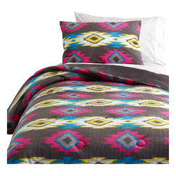 Dormify - Wanderlust Aztec Comforter Set, Twin Xl - Coachella comes to you.  The Wanderlust Aztec Comforter's vibrant tribal print is inspired by modern day concert-goers, who embrace style as much as they do comfort. Cozy microfiber surrounds a plush interior for unparalleled comfort. Reverses to solid grey for days that your senses need a rest too. Rest up and rock out.