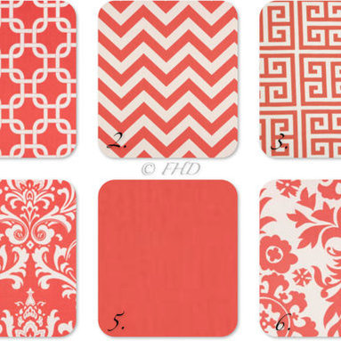 Coral Throw Pillows by Festive Home Decor - These gorgeous throw pillow covers will brighten up a family room. I would mix and match!