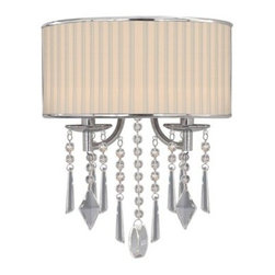Golden Lighting - Golden Lighting 8981-WSC Two Light Wall Sconce from the Echelon Collection - Transitional Two Light Wall Sconce from the Echelon CollectionThe Echelon Single Light Wall Sconce provides chic transitional styling with the option of either a graceful feminine shade or a more masculine shade. This is an elegant, versatile fixture that can be used in several different rooms.Features