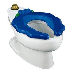 KOHLER - KOHLER K-4321-0 Primary Elongated Bowl Toilet with Seat - KOHLER K-4321-0 Primary Elongated Bowl Toilet with Seat in White