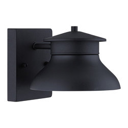 "John Timberland - Contemporary LED Energy Efficient Black 5"" High Outdoor Wall Light - Advanced energy-saving technology meets simple traditional style in this beautiful outdoor wall light. Durable black painted steel housing comprises this non-glass design. The light source is 12 dedicated energy efficient and long-lasting LEDs with a warm 3000k color temperature. The light is directed downward making this design Dark Sky compliant as well. Design by the John Timberland outdoor lighting collection. Energy efficient. Black finish steel. Includes 12 LED array. Warm 3000-3200K color temperature. 320 lumens. Not dimmable. 5"" high. 7"" wide. Extends 8 3/4"" from wall.  Black finish steel.  Non-glass design.  Includes twelve 1 watt dedicated LEDs.  Dark sky compliant.  320 lumens.  Comparable to a 35 watt incandescent.  Warm 3000-3200K color temperature.  Not dimmable.  5"" high.  7"" wide.  Extends 8 3/4"" from wall.  Back plate 6"" high x 4 1/2"" wide."
