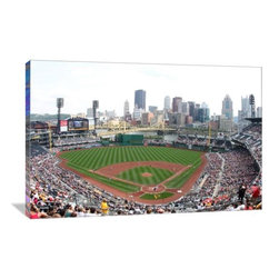"""Artsy Canvas - Pnc Park, Home Of The Pirates 24"""" X 16"""" Gallery Wrapped Canvas Wall Art - PNC Park, Home of the Pirates.  Ucinternatinal beautifully represented on 24"""" x 16"""" high-quality, gallery wrapped canvas wall art"""