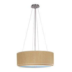 ET2 Lighting - Elements 3-Light Pendant - This magnificent pendant light hangs elegantly in your space, similar to a hot-air balloon floating gracefully in the sky. It features a durable ceiling mount and sturdy ultrathin cables that securely hold the basket-inspired shade.