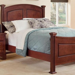Vaughan Bassett - Panel Bed w Nightstand in Cherry Finish (Full - Choose Bed Size: FullIncludes panel bed and nightstand. Cherry finish. Assembly required. Nightstand:. 2 Drawers. 26 in. W x 16 in. D x 26 in. H. Panel bed:. Full Size:. Includes panel headboard, panel footboard and wood rails with 3 1-inch slats. Panel headboard: 58 in. L x 4.5 in. W x 55 in. H. Panel footboard: 58 in. L x 4.5 in. W x 32 in. H. Wood rails: 76 in. L x 6 in. W x 1 in. H. Queen Size:. Includes panel headboard, panel footboard and wood rails with slats. Panel headboard: 65 in. L x 4.5 in. W x 56 in. H. Panel footboard: 65 in. L x 4.5 in. W x 32 in. H. Wood rails: 82 in. L x 6 in. W x 1 in. H. California King Size:. Includes panel headboard, panel footboard, wood rails and metal slats. Panel headboard: 82 in. L x 4.5 in. W x 58 in. H. Panel footboard: 82 in. L x 4.5 in. W x 32 in. H. Wood rails: 86 in. L x 6 in. W x 1 in. H. Eastern King Size:. Includes panel headboard, panel footboard, wood rails and metal slats. Panel headboard: 82 in. L x 4.5 in. W x 58 in. H. Panel footboard: 82 in. L x 4.5 in. W x 32 in. H. Wood rails: 82 in. L x 6 in. W x 1 in. H