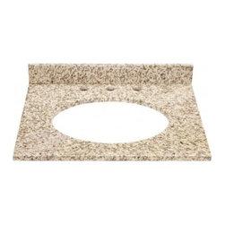 DECOLAV - Decolav Jordan Granite Countertop with a 3.75 in. Backsplash (1666-GCA) - Decolav 1666-GCA Jordan Granite Countertop with a 3.75 in. Backsplash, Carmello