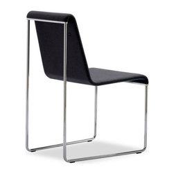 B&T Design - Slender Chair, Gazebo Eco-Leather Burgundy - 726 - Slender Chair