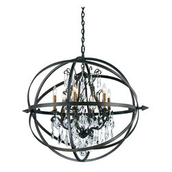 TROY - Byron Chandelier - The Troy Lighting Byron F2997 is a restoration-vintage single tier chandelier available in and Vintage Bronze finish.The restoration-vintage style is sure to complement any kitchen, bedroom, dining room or entry.