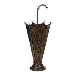 iMax - Iron Umbrella Stand - Whimsical Hammered iron umbrella shaped umbrella stand.