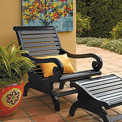 Plantation Chair - This Plantation Chair is stylish and fashionable for summer on the porch.