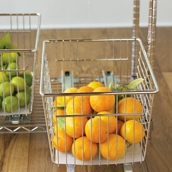 Lock-On Baskets & Dividers - Baskets can serve so many purposes; storage and organization are just a couple of the most useful ones.