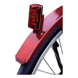 Fifthroom - Red L.E.D. Blinking Taillight - Visible from up to 2,500 feet away, our Red L.E.D. Blinking Taillight is a real attention-getter!  With six functions, it will make any bicycle, scooter, or tricyle stand out, in more ways than one!  Designed to fit all rear fender brackets, this high-intensity taillight is an easy and stylish way to make sure that safety will always tag along with you child.