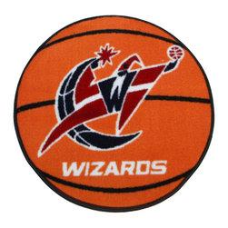 Fanmats - NBA Washington Wizards Rug Basketball Shaped Mat - FEATURES: