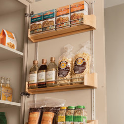 KraftMaid: Wood Tall Door Storage Kit - Make the most of your storage space. Hang this Wood Tall Door Storage Kit on the back of a cabinet door for easy access to the canned and boxed goods you use most.