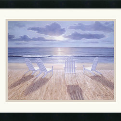 Amanti Art - Friends and Lovers Framed Print by Diane Romanello - Diane Romanello is a self-taught artist, whose scenic paintings are characterized by a sense of beauty and romance, inviting the viewer into a serene, natural world. Whether depicting pastel flower gardens lining a promenade or boardwalk, Diane's images suggest the memory of a treasured place.