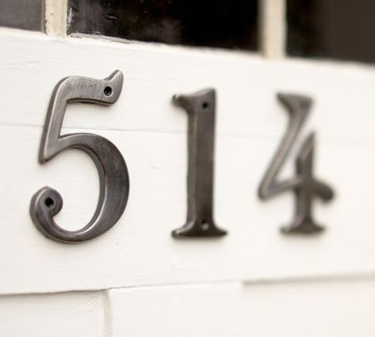 traditional house numbers by Pottery Barn