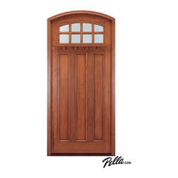 Pella® Architect Series® Craftsman Collection wood entry door - Features                                                                -Four distinctive collections to choose from: Mahogany, Rustic Walnut, Demesne Cherry or American White Oak woods