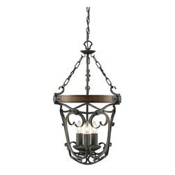 Golden Lighting - Golden Lighting 1821-3P Madera 3 Light 1 Tier Chandelier - Features:
