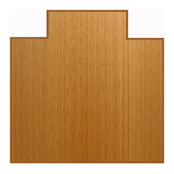 """Anji Mountain - Bamboo Natural Tri-Fold Plush Chairmat, 47"""" x 51"""", with lip - Our patented Bamboo Office Chairmats have introduced eco-friendly style to what was formerly an unattractive and purely functional accessory. Naturally elegant bamboo is more durable than a plastic mat and adds a charming organic touch to any area."""