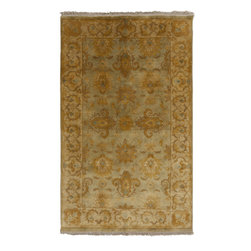 "Surya - Surya Temptress TMS-3003 (Sage Green) 3'3"" x 5'3"" Rug - This Hand Knotted rug would make a great addition to any room in the house. The plush feel and durability of this rug will make it a must for your home. Free Shipping - Quick Delivery - Satisfaction Guaranteed"