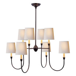 VENDOME LARGE CHANDELIER - The slender curved arms on this chandelier give it elegance, while its simplicity make it modern. It's the best of both worlds for a large range of styles.