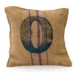 Go Home - Vintage Square Sack Pillow # 0- Set Of 2 - Vintage Square Sack Pillow made from burlap its material condition and color may slightly vary as it is recycled.Perfect for your bedroom or for your kids bedroom.