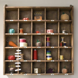 Cubby Organizer, Natural - I love this cubby shelf, and all the possible treasures I come across that I could store in here.