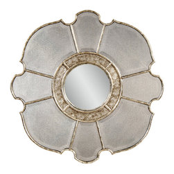 Bassett Mirror Company - Bassett Mirror Nevis Wall Mirror in Antique Mirror & Convex Center - Nevis Wall Mirror in Antique Mirror & Convex Center belongs to Wall Mirrors Collection by Bassett Mirror Company Nevis Wall Mirror -Antique Mirror & Convex Center Wall Mirror (1)