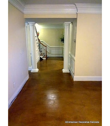 Modern Basement by All American Decorative Concrete