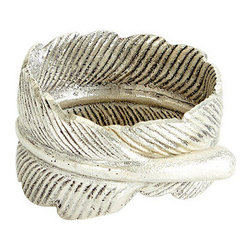 Ballard Designs - Set of 4 Feather Napkin Rings - Fall is a great season for entertaining, and these feather napkin rings will stand out on your table.