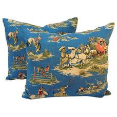 One Kings Lane - Home on the Range - Cowboy Print Pillows, Pair