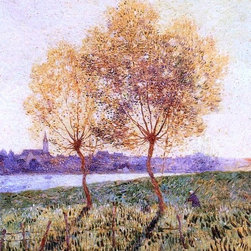 """Ferdinand Du Puigaudeau The Banks of the Loire, Basse Indre - 16"""" x 20"""" Premium - 16"""" x 20"""" Ferdinand Du Puigaudeau The Banks of the Loire, Basse Indre premium archival print reproduced to meet museum quality standards. Our museum quality archival prints are produced using high-precision print technology for a more accurate reproduction printed on high quality, heavyweight matte presentation paper with fade-resistant, archival inks. Our progressive business model allows us to offer works of art to you at the best wholesale pricing, significantly less than art gallery prices, affordable to all. This line of artwork is produced with extra white border space (if you choose to have it framed, for your framer to work with to frame properly or utilize a larger mat and/or frame).  We present a comprehensive collection of exceptional art reproductions byFerdinand Du Puigaudeau."""