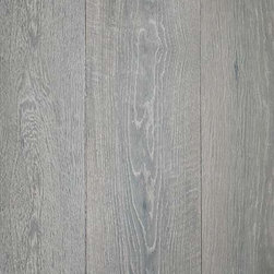 Montaigne Collection Tournai Wood Floors - Beautiful, aged gray patina in this oak, wide plank flooring.