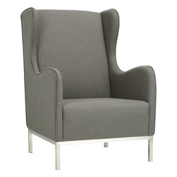 study oyster wingback chair -