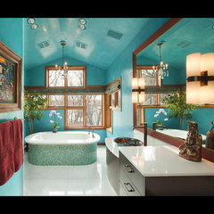 eclectic bathroom by Susan E. Brown Interior Design